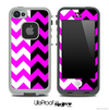 Two Toned Chevron Pattern Hot Pink Skin for the iPhone 5 or 4/4s LifeProof Case