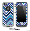 Vibrant Blue Sharp Chevron Skin for the iPhone 5 or 4/4s LifeProof Case