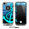 Rough Sea and Turquoise Anchor Skin for the iPhone 5 or 4/4s LifeProof Case