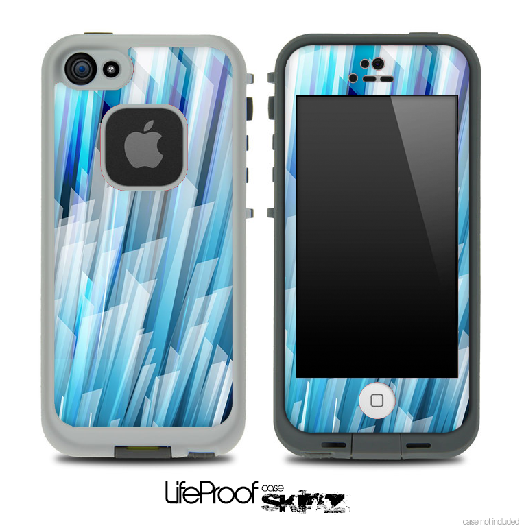 Abstract Tiled Blue 3D Skin for the iPhone 5 or 4/4s LifeProof Case