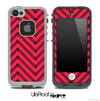 Sketchy Chevron Pattern Black and Red Skin for the iPhone 5 or 4/4s LifeProof Case