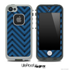 Sketchy Chevron Pattern Black and Blue Skin for the iPhone 5 or 4/4s LifeProof Case