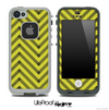 Sketchy Chevron Pattern Black and Gold Skin for the iPhone 5 or 4/4s LifeProof Case