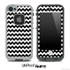 V4 Chevron Pattern Black and White Skin for the iPhone 5 or 4/4s LifeProof Case