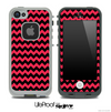 V4 Chevron Pattern Black and Red Skin for the iPhone 5 or 4/4s LifeProof Case