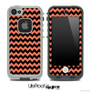 V4 Chevron Pattern Black and Coral Skin for the iPhone 5 or 4/4s LifeProof Case