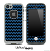 V4 Chevron Pattern Black and Blue Skin for the iPhone 5 or 4/4s LifeProof Case