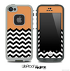 Solid Color Coral and Chevron Pattern Skin for the iPhone 5 or 4/4s LifeProof Case