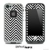 V3 Chevron Pattern Black and White Skin for the iPhone 5 or 4/4s LifeProof Case