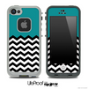 Solid Color Green and Chevron Pattern Skin for the iPhone 5 or 4/4s LifeProof Case