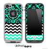 Mirrored Trendy Green V2 Chevron Pattern Skin for the iPhone 5/5s, 4/4s or 5c Fre LifeProof Case