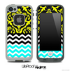 Mirrored Lace Yellow V2 Chevron Pattern Skin for the iPhone 5 or 4/4s LifeProof Case