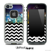 Mixed NYC SKYLINE and Chevron Pattern Skin for the iPhone 5 or 4/4s LifeProof Case