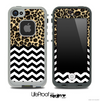 Mixed Cheetah V1 and Chevron Pattern Skin for the iPhone 5 or 4/4s LifeProof Case