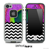 Mixed Neon Peacock and Chevron Pattern Skin for the iPhone 5 or 4/4s LifeProof Case