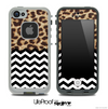 Mixed Simple Cheetah and Chevron Pattern Skin for the iPhone 5 or 4/4s LifeProof Case