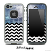 Mixed Abstract Oil Painting and Chevron Pattern Skin for the iPhone 5 or 4/4s LifeProof Case