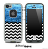 Mixed Rough Water and Chevron Pattern Skin for the iPhone 5 or 4/4s LifeProof Case
