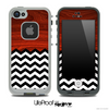 Mixed Rich Red Wood and Chevron Pattern Skin for the iPhone 5 or 4/4s LifeProof Case