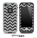 Black and Gray Chevron Pattern for the iPhone 5 or 4/4s LifeProof Case