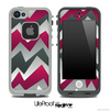 Abstract Purple ZigZag Chevron Pattern for the iPhone 5 or 4/4s LifeProof Case