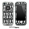White and Black Plaid Anchor Collage Skin for the iPhone 5 or 4/4s LifeProof Case