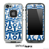 White and Unfocused Blue Sparkle Anchor Collage Skin for the iPhone 5 or 4/4s LifeProof Case