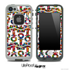 White and Tiny Gumballs Print Anchor Collage Skin for the iPhone 5 or 4/4s LifeProof Case