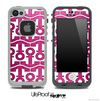 White and Pink Crumpled Print Anchor Collage Skin for the iPhone 5 or 4/4s LifeProof Case