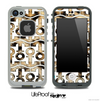 White and Real Cheetah Print Anchor Collage Skin for the iPhone 5 or 4/4s LifeProof Case