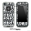 White and Black Laced V2 Anchor Collage Skin for the iPhone 5 or 4/4s LifeProof Case