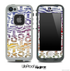 White and Colorful Zebra Anchor Collage Skin for the iPhone 5 or 4/4s LifeProof Case