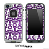 White and Purple Paisley Anchor Collage Skin for the iPhone 5 or 4/4s LifeProof Case