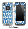 White and Blue Jeans Anchor Collage Skin for the iPhone 5 or 4/4s LifeProof Case