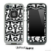 White and Back Floral Laced Collage Skin for the iPhone 5 or 4/4s LifeProof Case