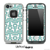 White and Green Plaid Anchor Collage Skin for the iPhone 5 or 4/4s LifeProof Case