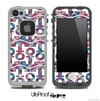 White and Purple Plaid Anchor Collage Skin for the iPhone 5 or 4/4s LifeProof Case