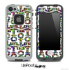 White and Abstract Tiled Anchor Collage Skin for the iPhone 5 or 4/4s LifeProof Case