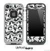 White and Black/White Chevron Anchor Collage Skin for the iPhone 5 or 4/4s LifeProof Case