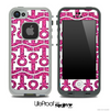 White and Pink Sparkle Anchor Collage Skin for the iPhone 5 or 4/4s LifeProof Case
