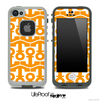 White and Orange Anchor Collage Skin for the iPhone 5 or 4/4s LifeProof Case