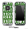 White and Green Turf Anchor Collage Skin for the iPhone 5 or 4/4s LifeProof Case