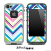 Chevron V3 Fun Color Pattern Skin for the iPhone 5 or 4/4s LifeProof Case