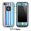 Thin Striped V2 Fun Color Pattern Skin for the iPhone 5 or 4/4s LifeProof Case