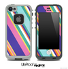 Striped V3 Fun Color Pattern Skin for the iPhone 5 or 4/4s LifeProof Case
