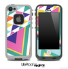 Fun Colored Pyramid Mix Chevron Skin for the iPhone 5 or 4/4s LifeProof Case
