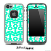 White and Trendy Green Collage Skin for the iPhone 5 or 4/4s LifeProof Case