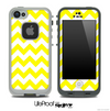 Yellow and White V2 Chevron Pattern Skin for the iPhone 5 or 4/4s LifeProof Case
