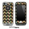Vintage Striped Opaque Black V6 Chevron Pattern Skin for the iPhone 5 or 4/4s LifeProof Case