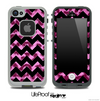 Pink Cheetah and Black V6 Chevron Pattern Skin for the iPhone 5 or 4/4s LifeProof Case